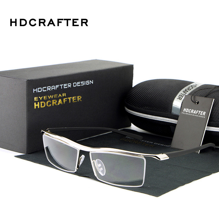 HDCRAFTER品牌新款经典塑钢光学镜 近视眼镜框平光可配蓝光