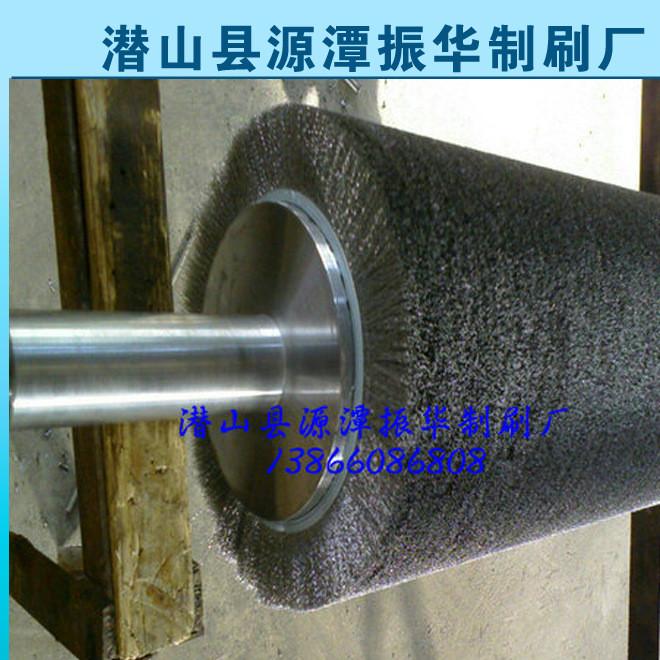 定制各种板材除锈抛光钢丝刷辊 去锈钢丝辊 研磨刷辊钢丝刷辊