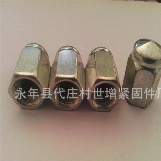 轮毂螺母 左牙螺母 右牙螺母 镀锌螺母 现货供应轮毂螺母