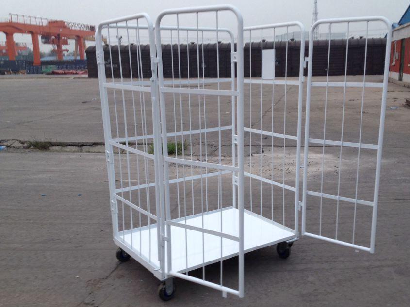 定做物流台车 周转车 厂家生产销售各种型号折叠铁笼子 仓储笼
