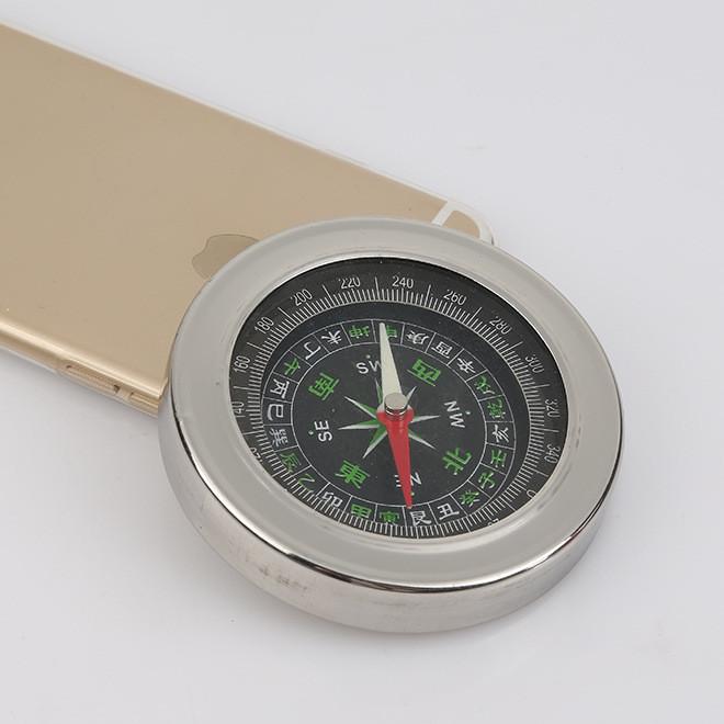 直销 77MM 户外不锈钢指南针 地质罗盘仪指北针 正品便携式罗盘