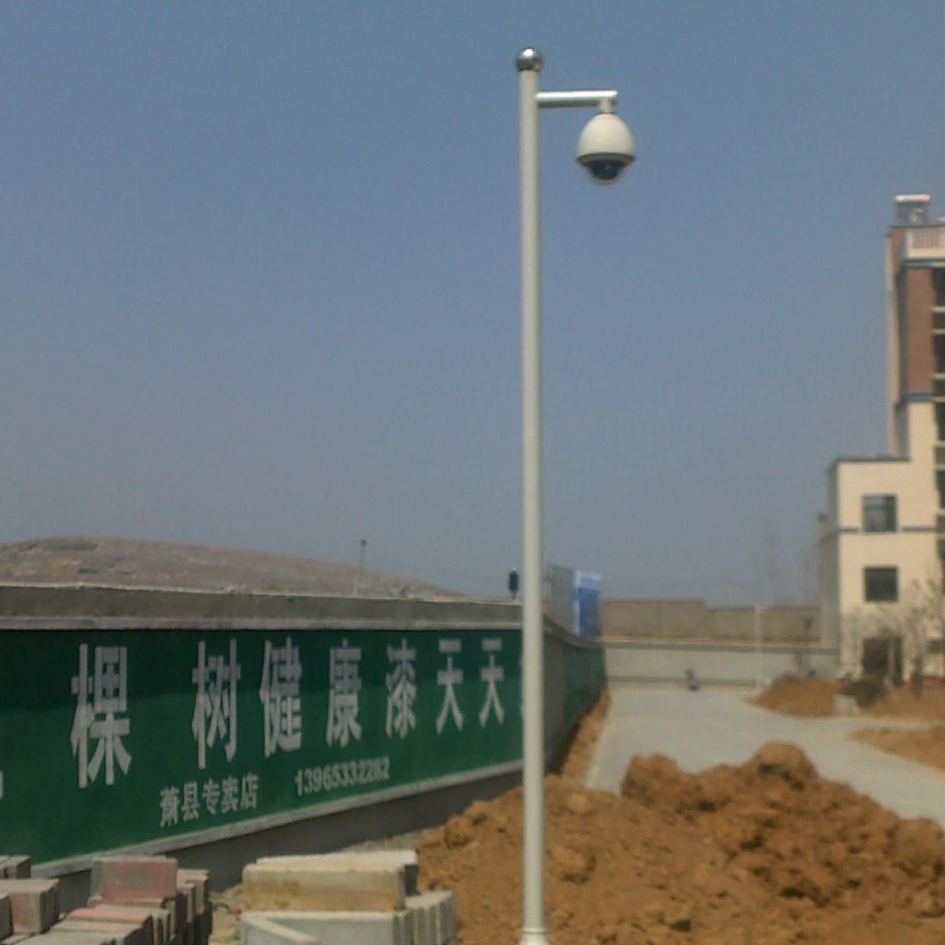 监控立杆厂家批发, 厂家专业生产3.5米监控立杆 25年不生锈