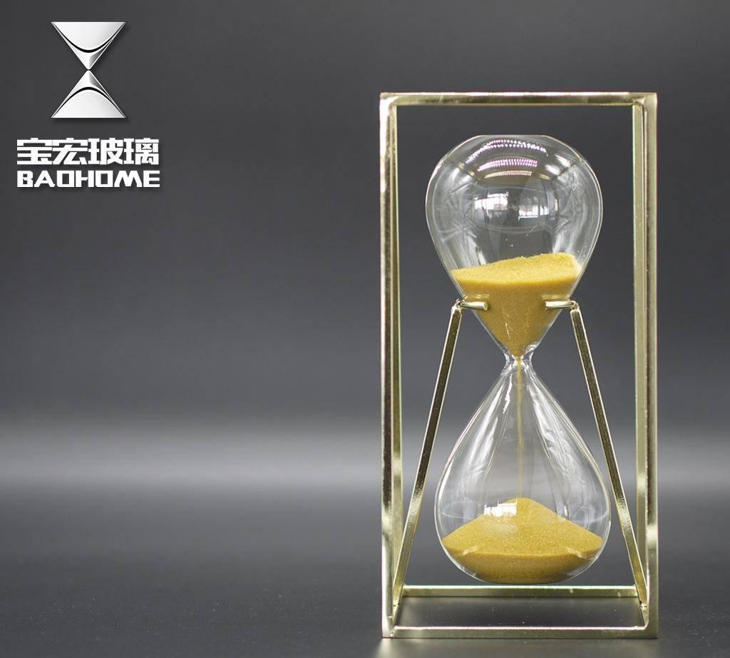 zarahome沙漏计时器 出口金属创意沙漏软装饰品摆件摆品现代简约