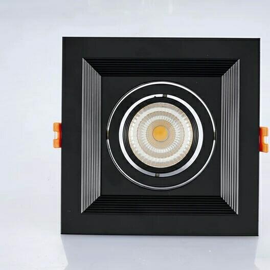 豪的单头方型10W led格栅灯射灯背景墙嵌入式斗胆灯天花灯