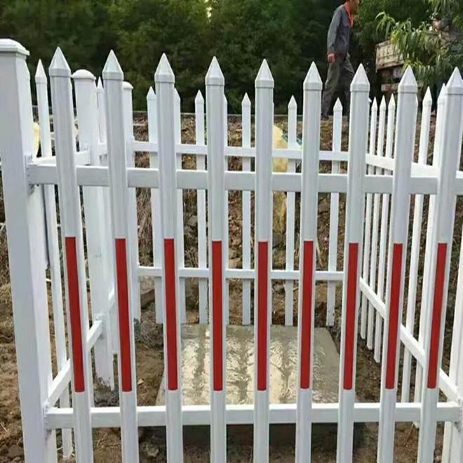 PVC塑钢隔离护栏 电力变压器围栏 花池花坛草坪栅栏 市政绿化护栏