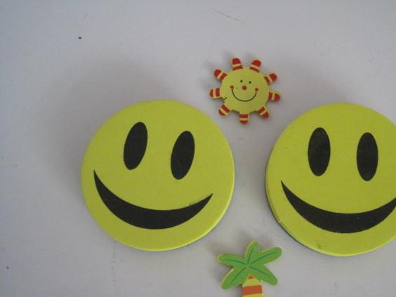 新款笑脸板擦 EVA黑板擦好看耐用厂家直供批发 磁性白板擦