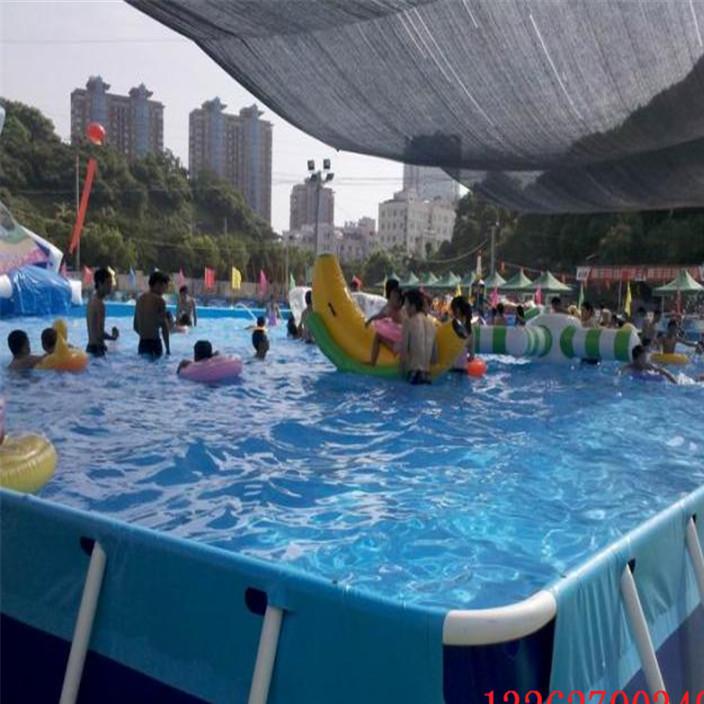 动漫水世界移动水上乐园大型支架水池大型支架游泳池框架式游泳池