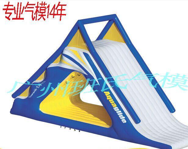 厂家直销充气水上滑梯 充气模型滑梯 大型游乐设施定做批发