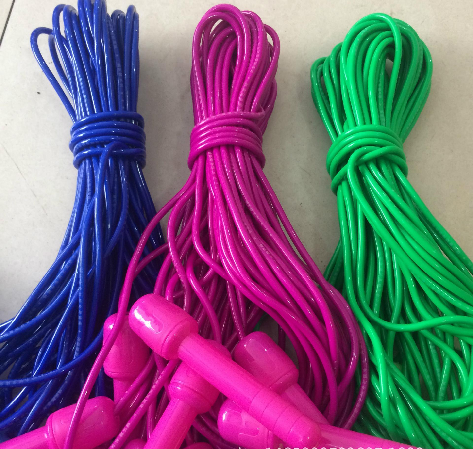 学生塑料跳绳 单把单色塑料跳绳 学生锻炼用大柄跳绳 批发