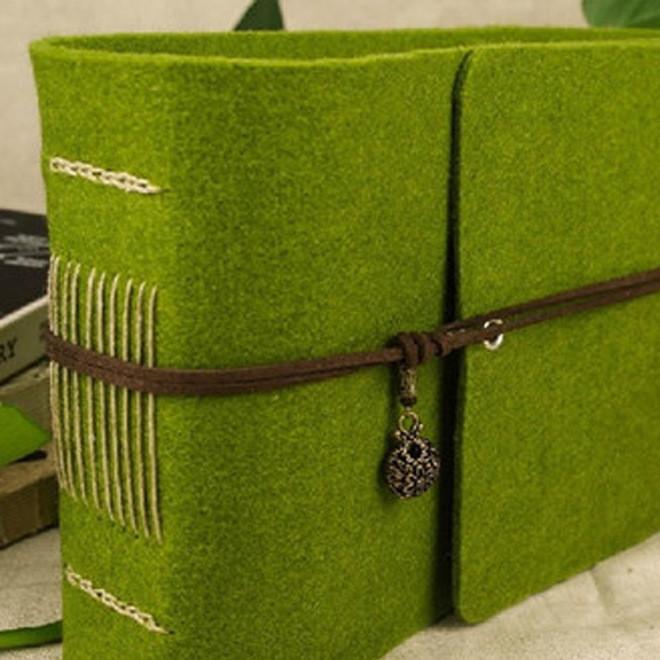 厂家直销 欧式线装毛毡本绑绳扣带款 可定制 低价批发 欢迎选购