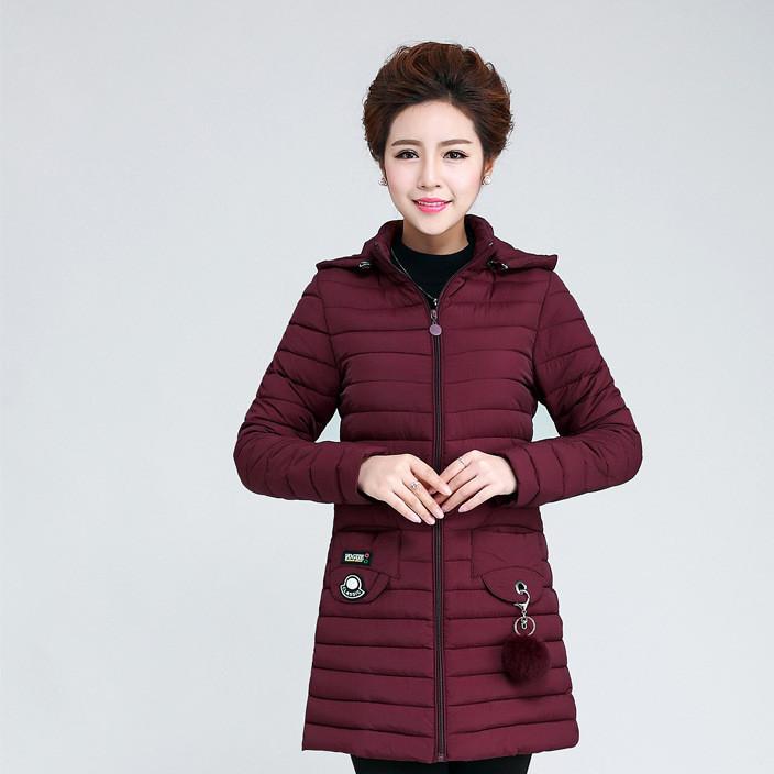 2017韩版带毛球女轻薄款羽绒棉服外套百搭修身显瘦大码中长款棉衣