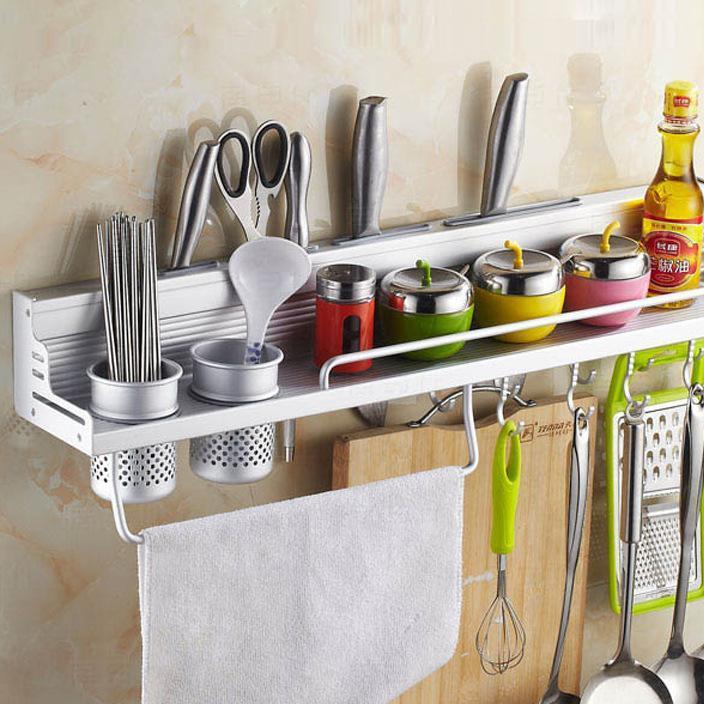厂家直销 太空铝 厨房置物架 壁挂 多功能厨卫挂件挂架 刀架亚光