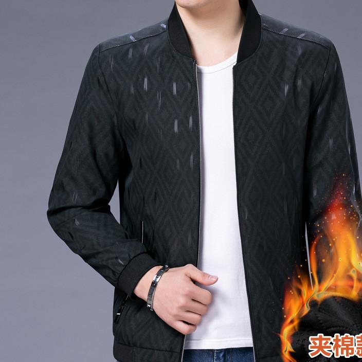 2017冬装新款男式加棉外套 男式潮流加厚夹克衫 休闲保暖棉服男装