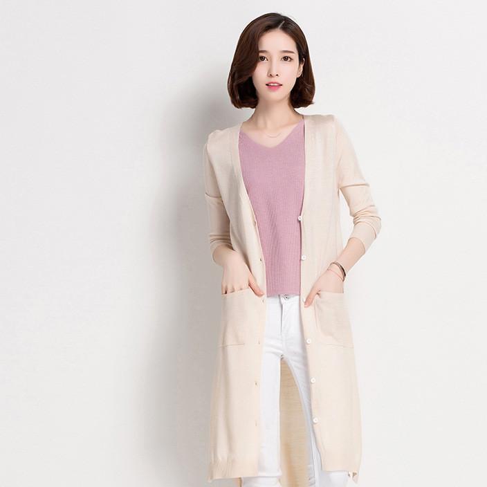 2018夏季新款爆款女装纯色雪纺防晒衫女开衫中长款外搭披肩外套薄