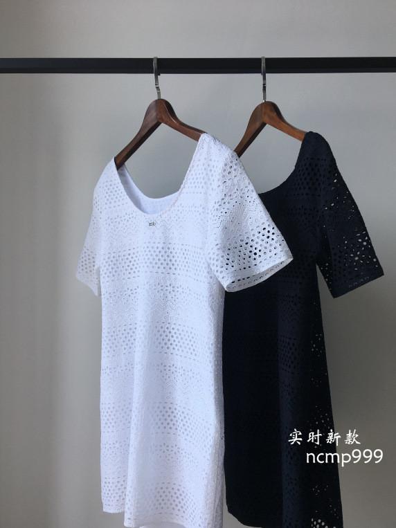 西米家 货号43 重工刺绣新款连衣裙18夏款中长直筒镂空优雅裙子
