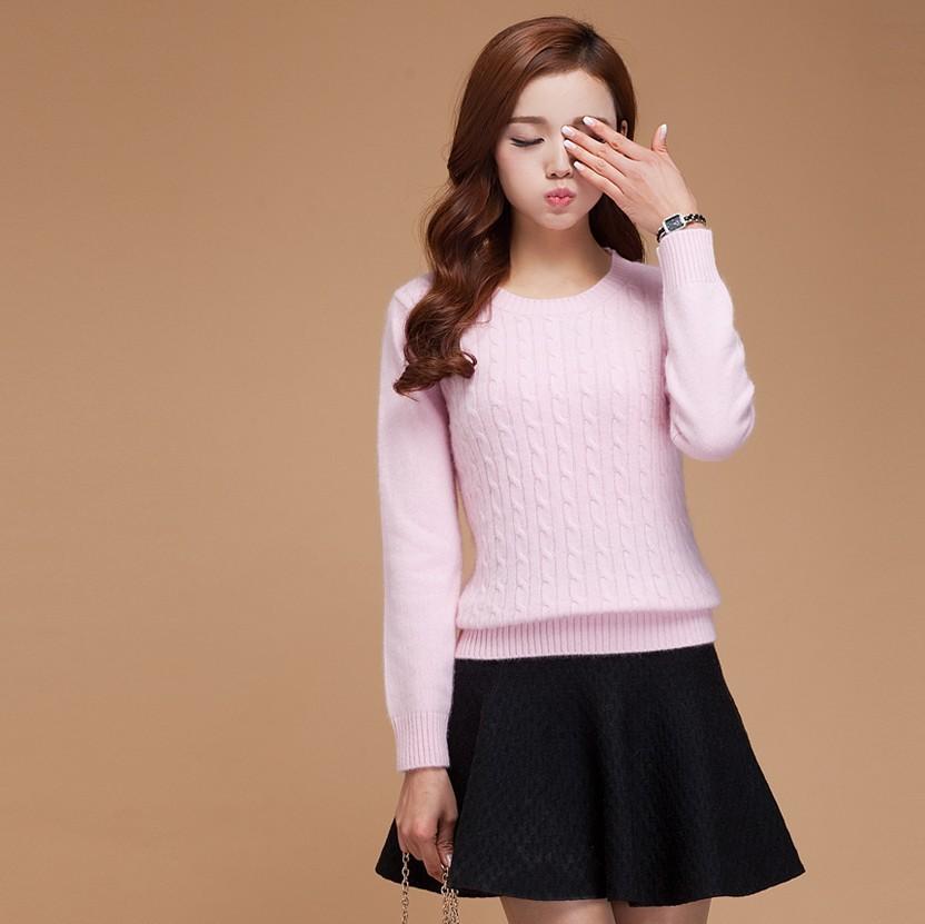 2016年新款女士低领圆扭花羊绒衫 羊绒加厚打底毛衣毛衣女秋冬