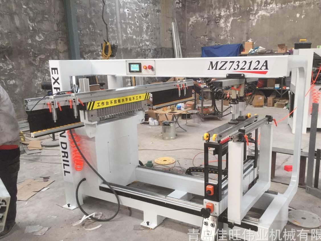 双排钻 木工机械青岛厂家直销木板多排钻设备板式家具三四打孔机