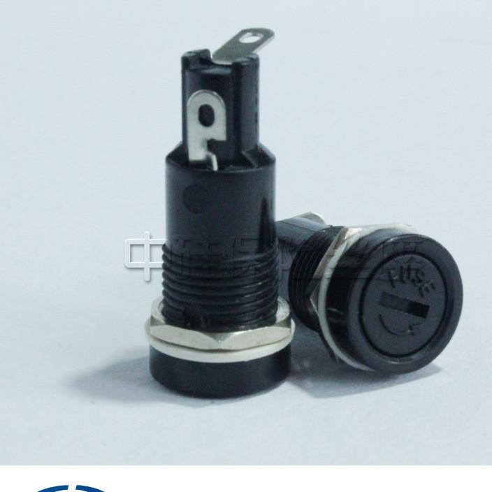 520面板保险丝座熔断器盒R3-11 电木一字 金属塑料螺母 厂家直销