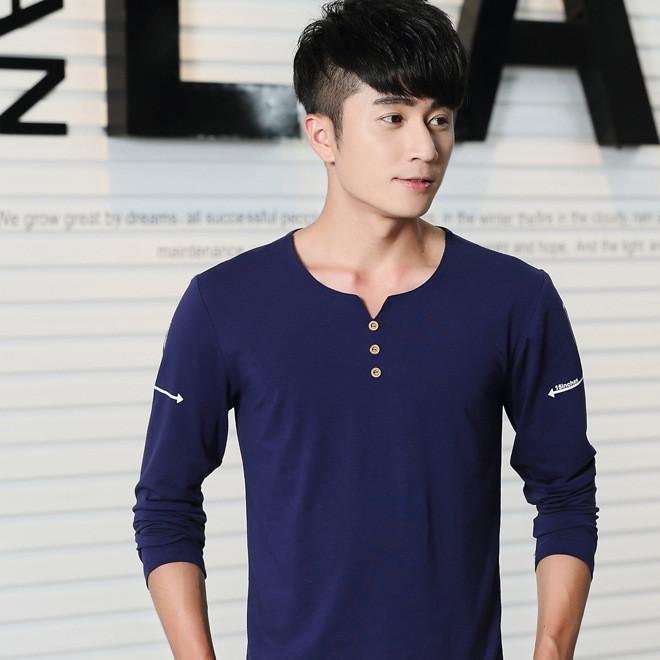 2016秋季新款男T恤长袖学生上衣服韩版体恤日系男装个性潮流衣服