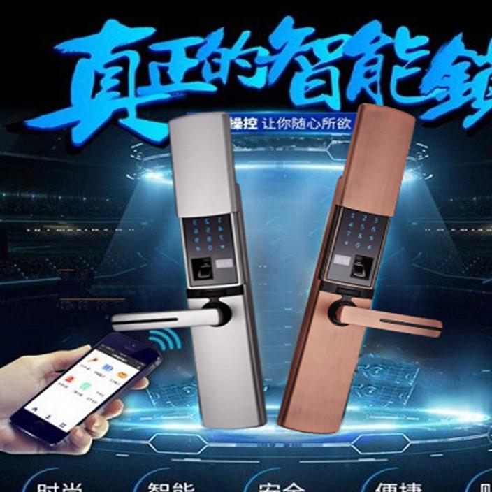 厂家现货多功能智能门锁 家庭指纹密码锁 APP组合感应电子锁定制