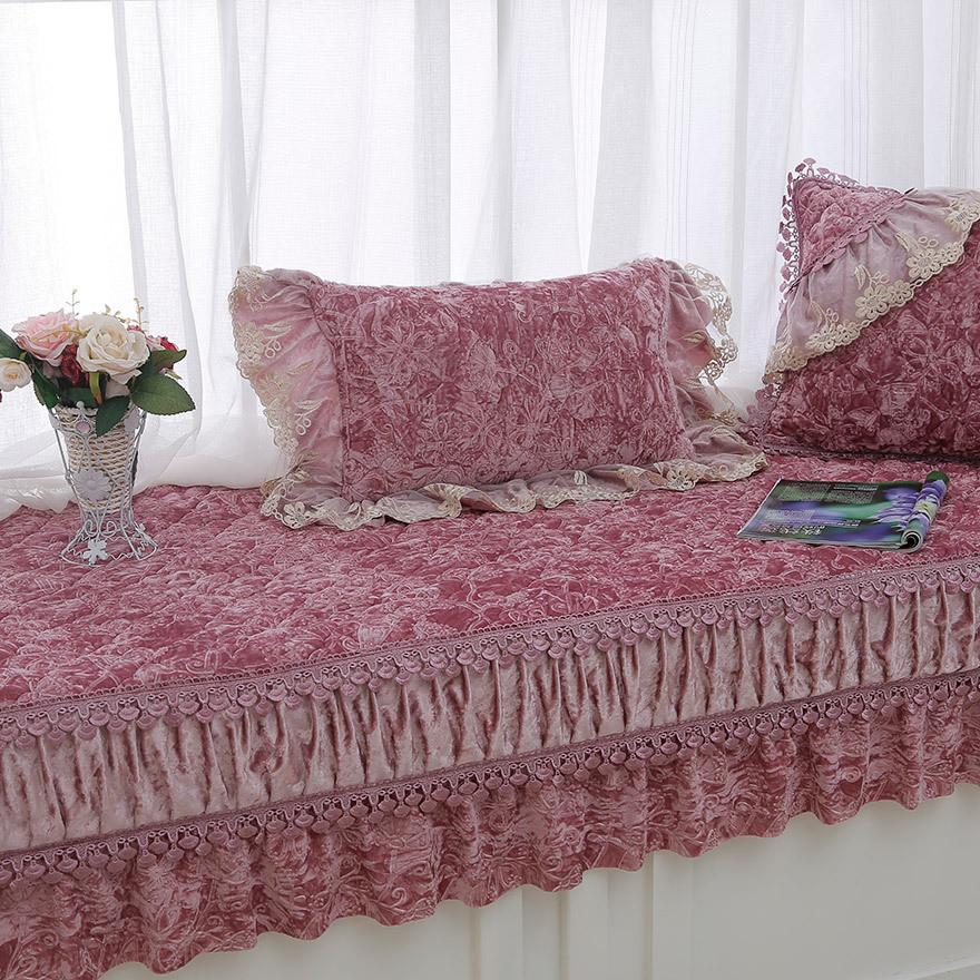 厂家批发飘窗垫窗台垫毛绒防滑卧室榻榻米坐垫公主阳台垫垫子定做