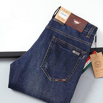 外贸男装 厂家直销 男士牛仔裤 中腰直筒长裤 商务休闲裤子 6808