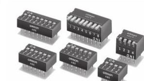 日本OMRON欧姆龙琴键式拨码开关 拨动开关 档位开关元件A6ER-4101