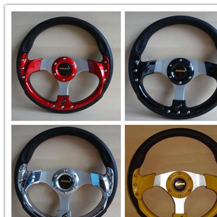 汽车改装方向盘 MOMO仿赛车通用方向盘 金杯 PU改装方向盘 13寸