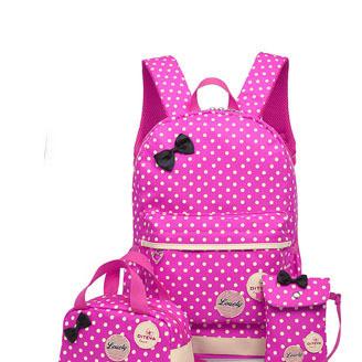 韩版可爱蝴蝶结小学生2-6年级双肩书包减负护脊儿童女孩三-六书包