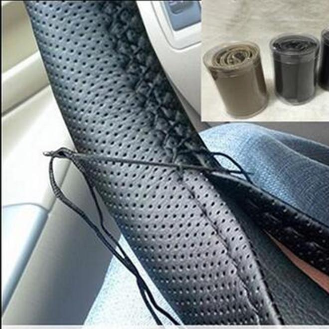 超纤皮手缝方向盘套 汽车真皮把套四季通用厂家直销手工批发