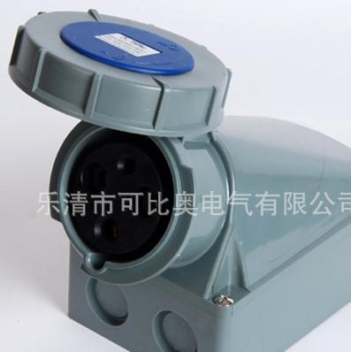 批发定做 3孔63A欧式工业防水单相三线明装插座KBN-1332