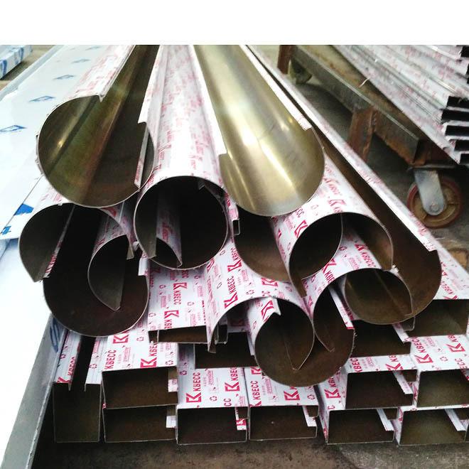 不锈钢圆形包边半弧形槽 装饰工程弧形包板圆形装饰线条 厂家定制