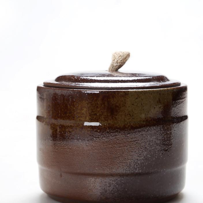 柴烧大号陶瓷茶叶罐红茶绿茶叶礼盒包装提袋储物罐密封罐