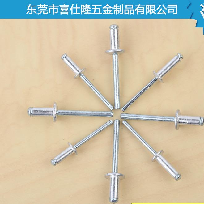 厂家直销 全铝灯笼铆钉 开口型圆头铝拉钉 开口型扁圆头抽芯铆钉