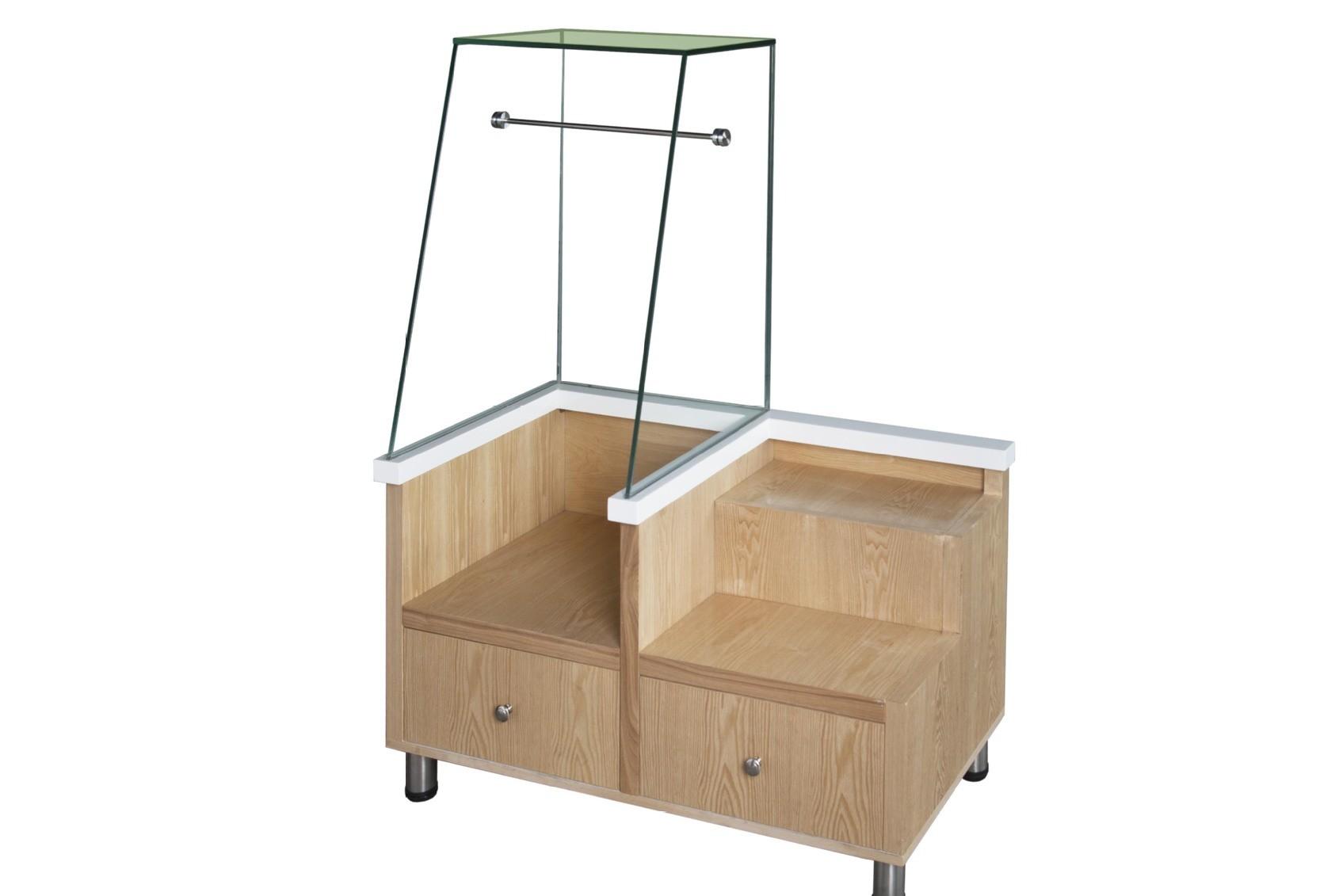 面包柜配套的盘叉柜 木制面包夹柜 蛋糕房专用收银台 抽屉式展柜
