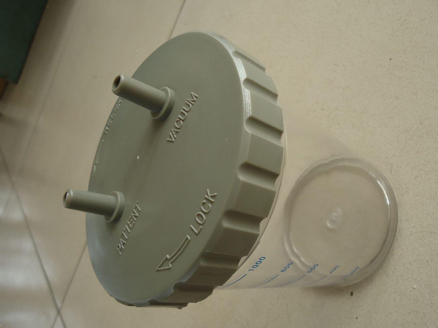 吸痰机污液收集容器1000ML /引器瓶子/溢流/密封/全塑料瓶子