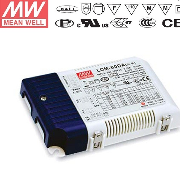 正品明纬LCM-60DA 60W 电压/PWM调光多档输出恒流开关电源