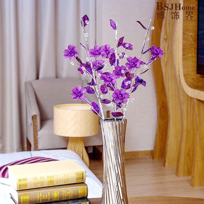 创意时尚落地客厅现代简约摆设摆件家居装饰品镶钻水晶花陶瓷花瓶