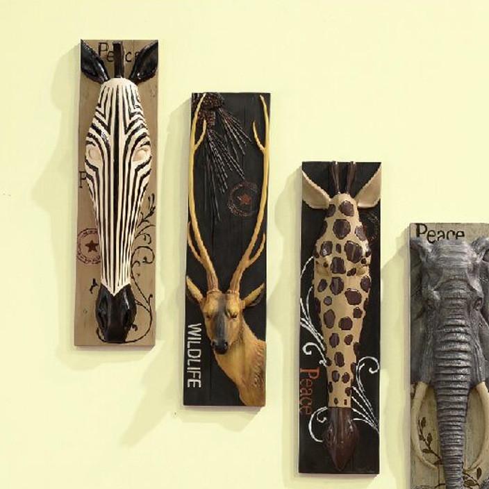 创意美式乡村树脂工艺品鹿头壁挂家居背景墙面壁饰立体装饰画挂件