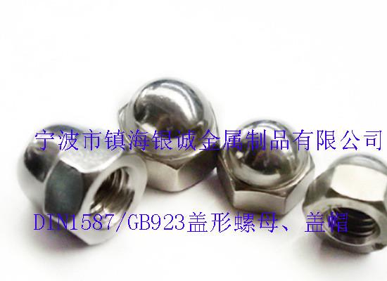 现货供应 不锈钢盖型螺母 专业定制装饰螺母 M4 M16半圆球盖帽