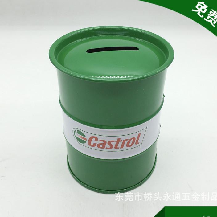 工厂热销圆型欧式硬币储钱罐 糖果罐 金属投币盒子 免费拿样设计