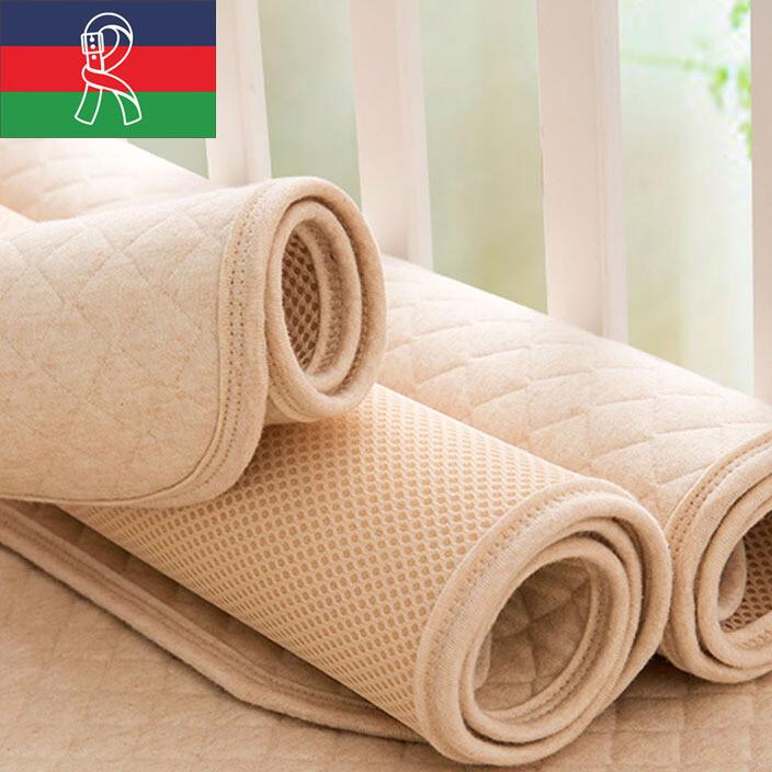 达婴儿隔尿垫彩棉新生儿尿垫大号透气宝宝尿布垫两条装