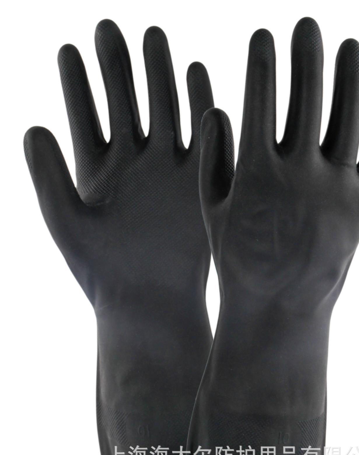 耐酸碱防化手套10-227 高性能防化手套 氯丁橡胶防化手套 批发