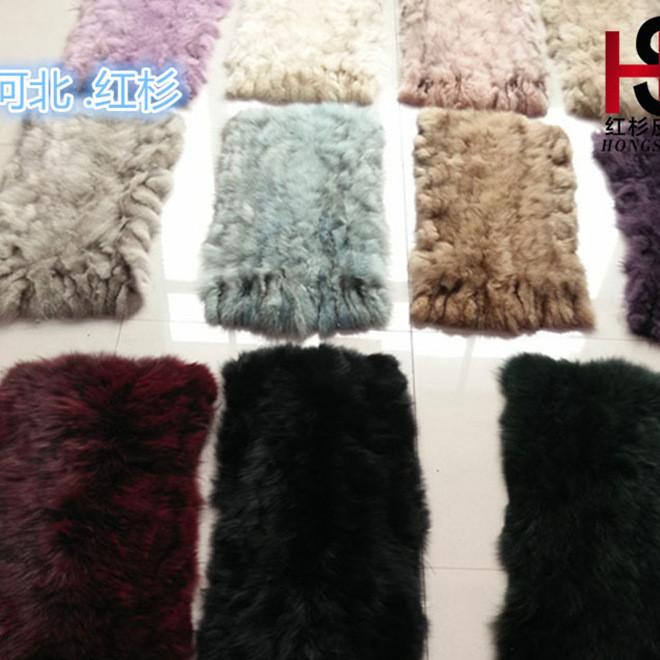 2016新款进口蓝狐狸皮褥子毯子皮草服装不染色成品 红衫厂家直销