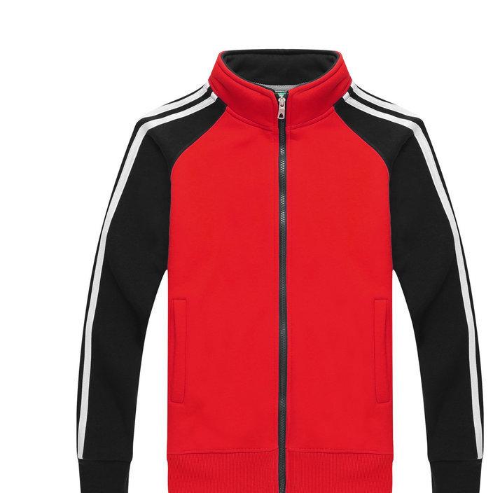 冬季新款男女式立领休闲卫衣 男女时尚撞色运动卫衣定制批发