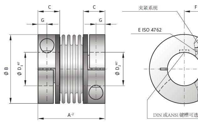 供应德国R+W公司BKL波纹管弹性联轴器