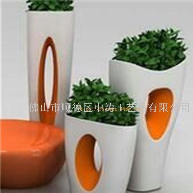玻璃钢花盆 树脂纤维花盆 氧化镁花盆 玻璃钢工艺品