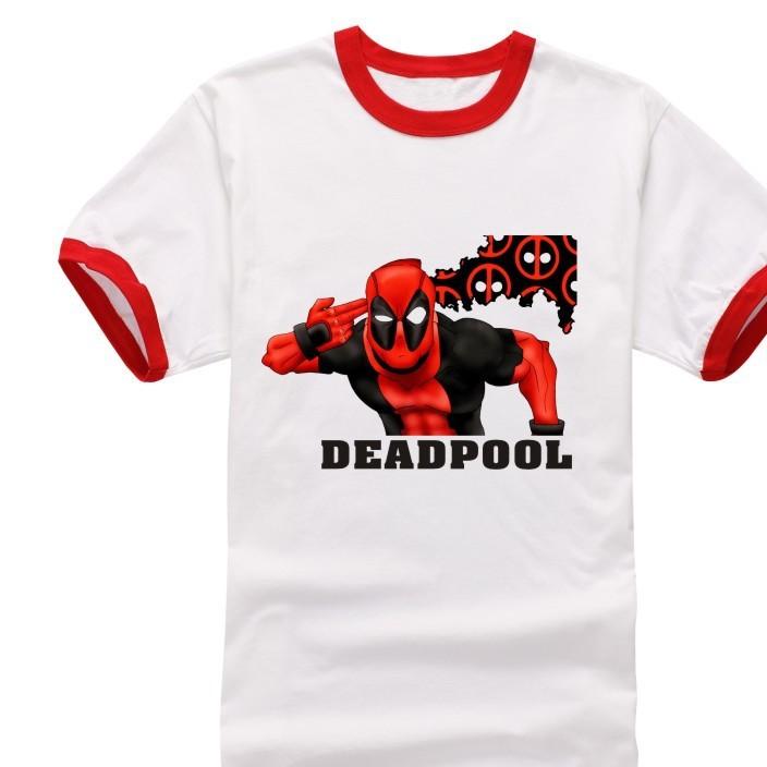 2016新款死侍Deadpool短袖T恤纯棉大码t恤复仇者联盟漫威英雄代发