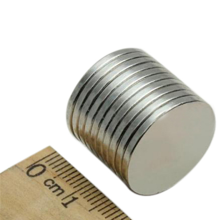 厂家直销 钕铁硼圆形强磁 202 订做各种规格磁铁片 圆形磁铁