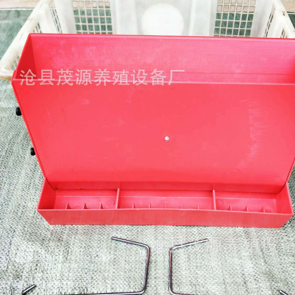茂源塑业生产 鹌鹑养殖设备 鹌鹑笼专用下料器 半自动食槽 料槽